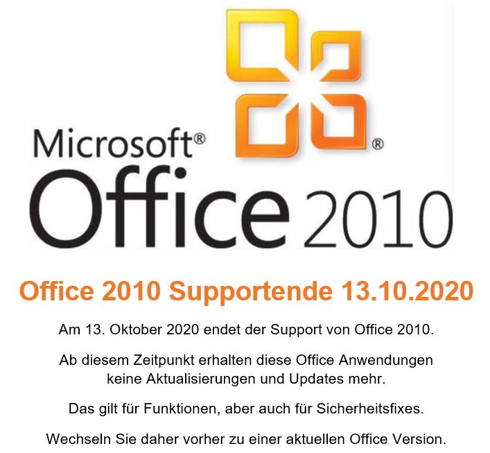 Office2010 Supportende